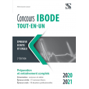 Concours IBODE  2020-2021 - Tout-en-un