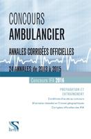 Concours ambulancier 2016 – Annales corrigees officielles